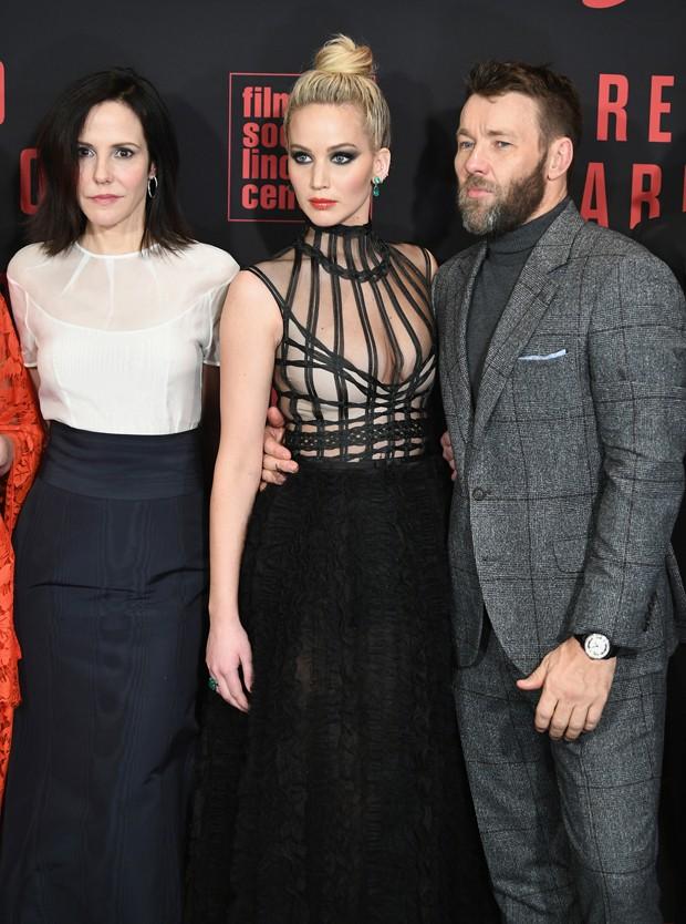 Mary Louise Parker, Jennifer Lawrence e Joel Edgerton (Foto: Getty Images)