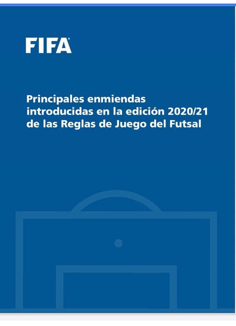 Fifa anuncia mudanças de regras no futsal — Foto: Reprodução