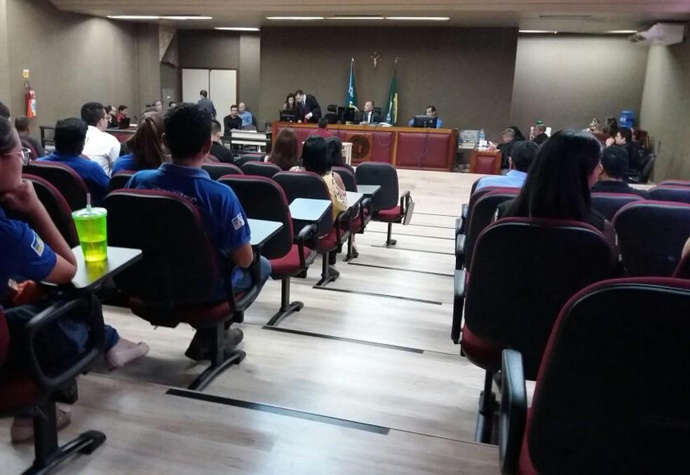 -  Testemunhas são ouvidas pelo jurí nesta quarta-feira  13 , em Macapá  Foto: Jorge Abreu/G1
