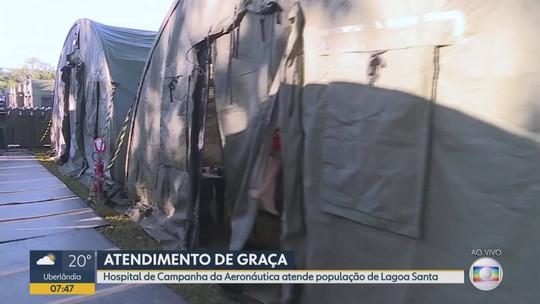 Hospital de Campanha da Aeronáutica faz atendimentos gratuitos em Lagoa Santa