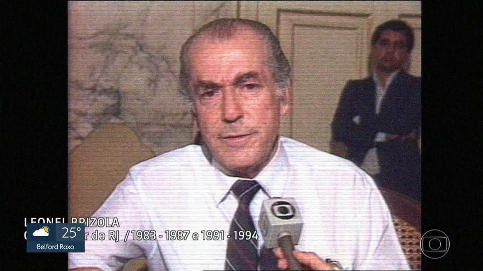 Ex-governador Leonel Brizola (Foto: Reprodução/Acervo/Globo)