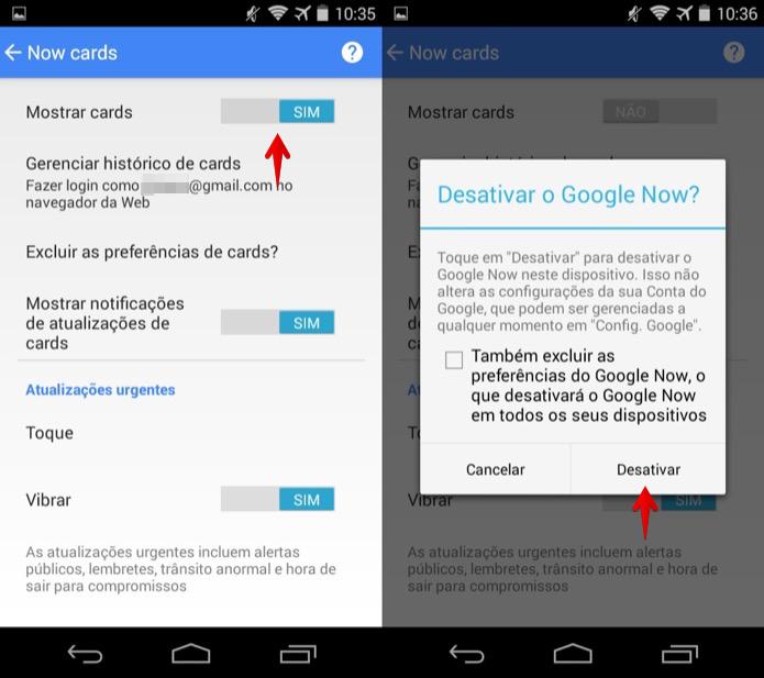 Desativando o Google Now no Android (Foto: Reprodução/Helito Bijora)