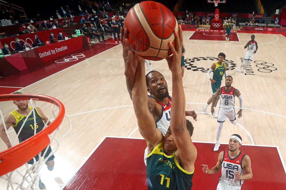 EUA Austrália basquete Tóquio 2020 — Foto: Reuters