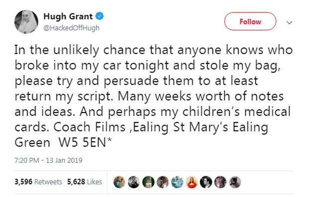Hugh Grant (Foto: Reprodução/Twitter)