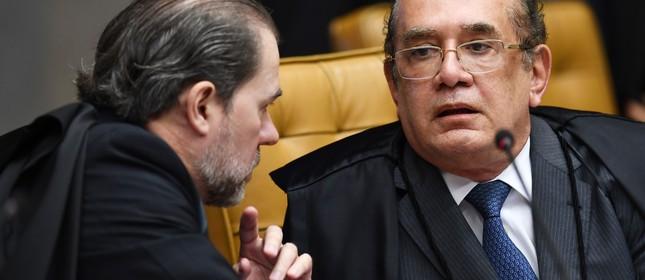 Os ministros Dias Toffoli e Gilmar Mendes