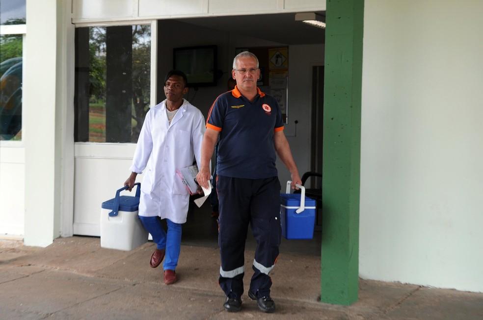 Equipe de transplantes de órgão em Brasília. — Foto: Gabriel Jabur/Agência Brasília