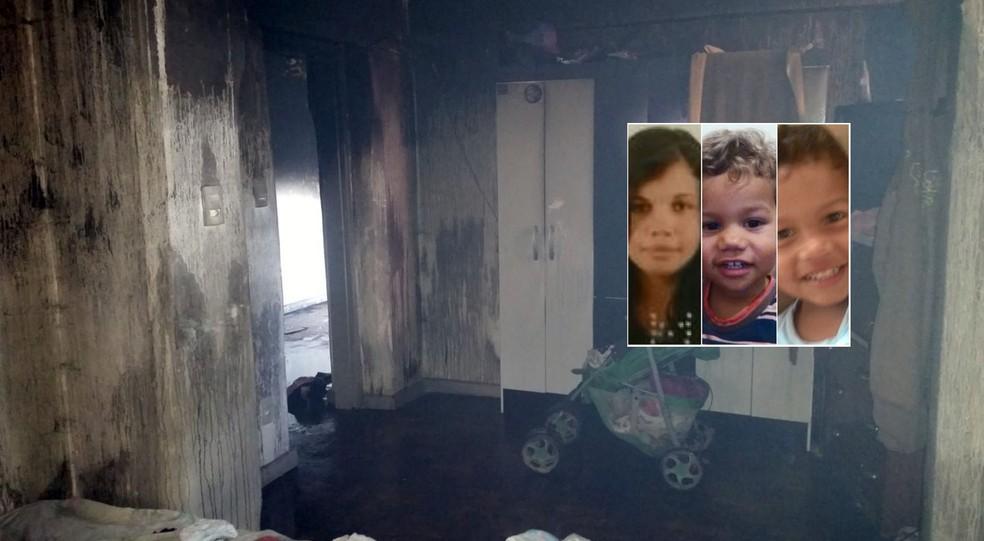 Vítimas que morreram em incêndio foram asfixiadas pela fumaça, dizem Bombeiros (Foto: Reprodução EPTV)