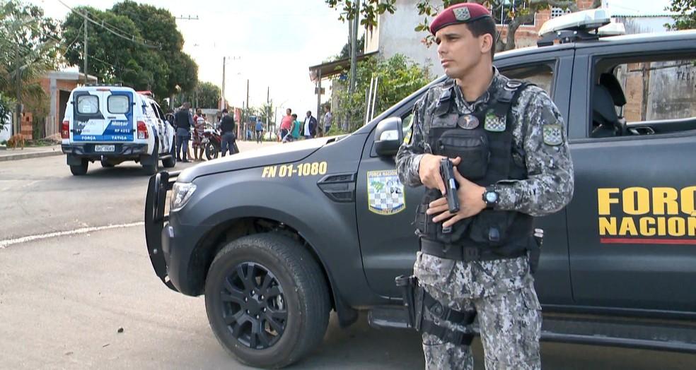 Força Nacional vai ficar um mês no Ceará — Foto: Reprodução / TV Gazeta