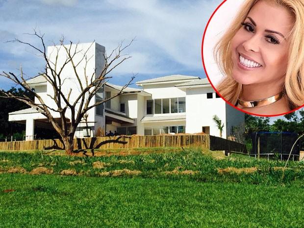 Joelma aluga nova casa em Goiânia (Foto: Reprodução)