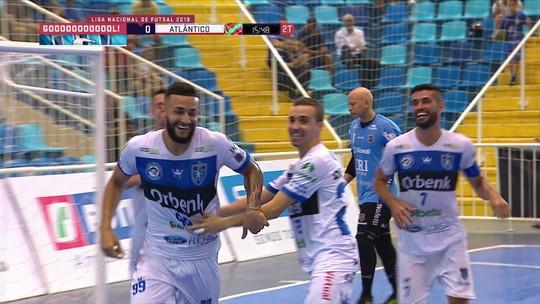 Tubarão vence Atlântico Erechim por 2 a 1 e assume liderança da Liga Nacional de Futsal