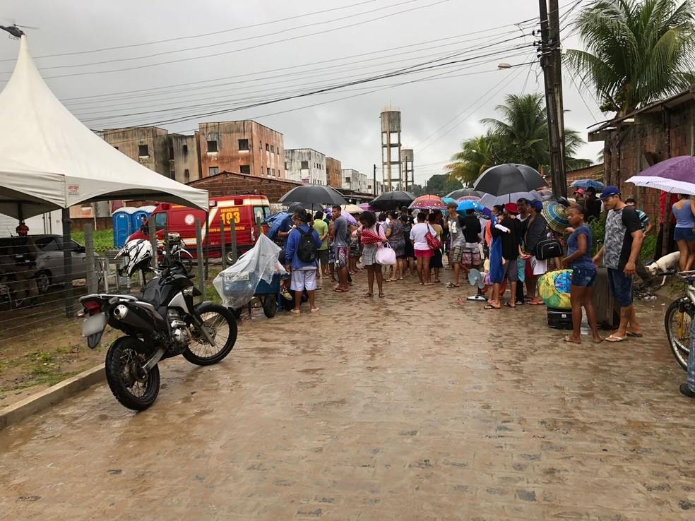 Reintegração de posse no Condomínio Vista do Verde, no bairro das Indústrias (Foto: Walter Paparazzo/G1)
