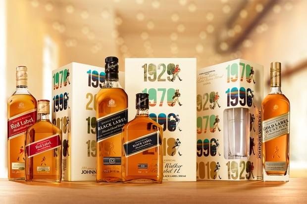 Embalagens de whisky da família Johnnie Walker pensadas para agradar os papais (Foto: divulgação)