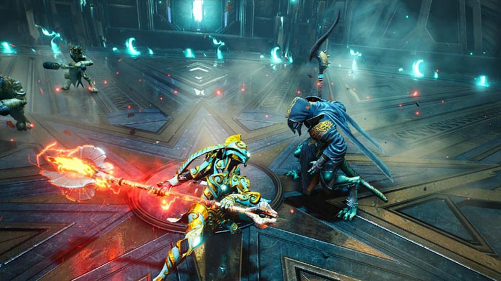 Godfall, popular exclusivo do PlayStation 5, agora está disponível também no PS4 — Foto: Divulgação/Godfall