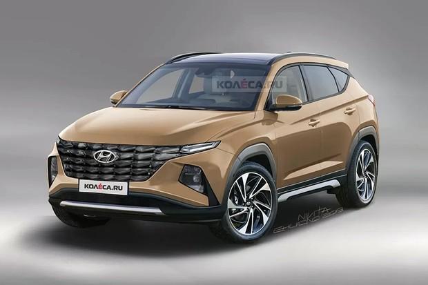 Site russo faz projeções da 4ª geração do Hyundai Tucson (Foto: Reprodução/Kolesa)