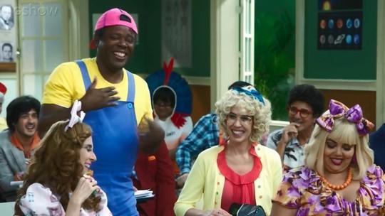 Érico Brás tem crise de riso em gravação da 'Escolinha'; assista!