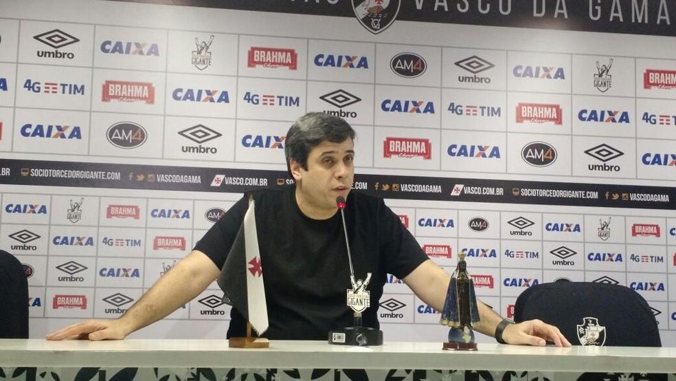 Euriquinho atuou em 2017 como vice de futebol do Vasco  — Foto: Fred Huber