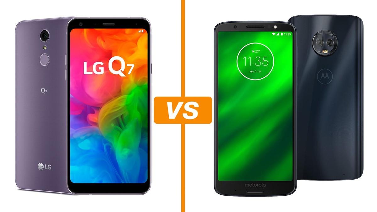 0d9785a57 LG Q7 Plus vs Moto G6 Plus  conheça os smartphones de até R  2 mil ...