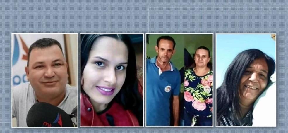 Adriano, Daiane, José, Luzia e Maria morreram no acidente na PR-317 — Foto: RPC/Reprodução