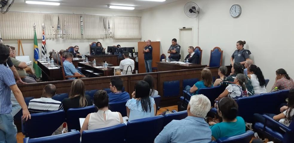 Renan Passarin prestou depoimento durante julgamento em Santa Bárbara d'Oeste — Foto: Jonatan Morel/EPTV