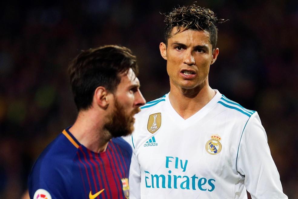 Messi e Cristiano Ronaldo marcaram no Superclássico entre Barcelona e Real Madrid do último domingo (Foto: EFE)