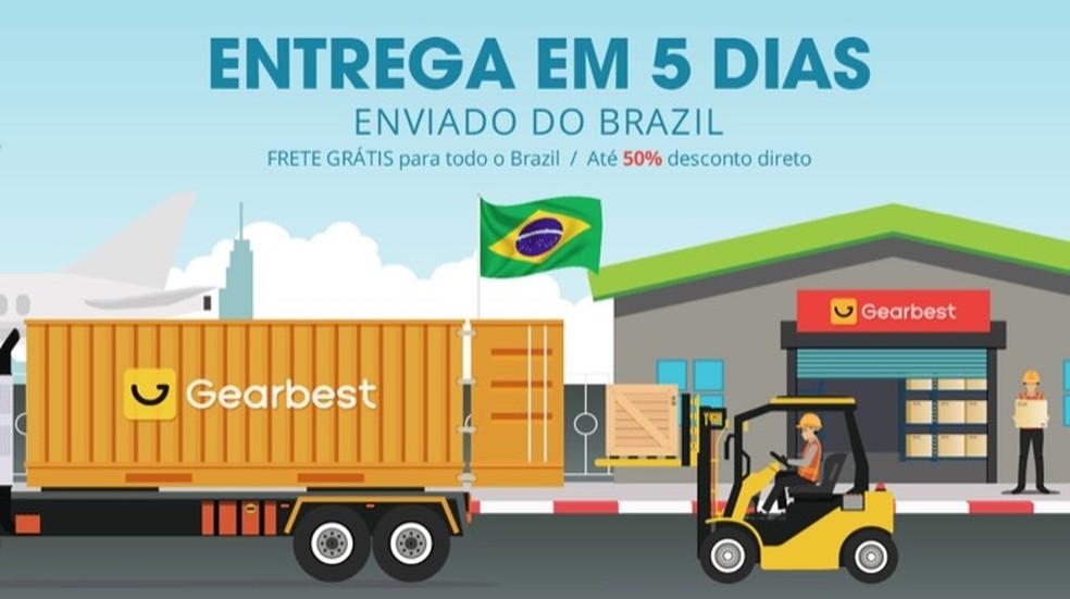 Tutorial mostra como realizar compras de produtos em estoque no Brasil pelo site Gearbest — Foto: Reprodução/Marvin Costa