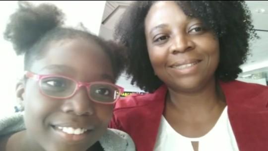 Mãe reencontra filha sequestrada pelo ex-marido, que levou a menina para a Nigéria