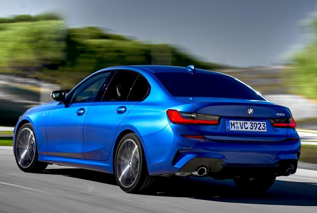 BMW 330i M Sport tem visual mais esportivo — Foto: Divulgação/BMW