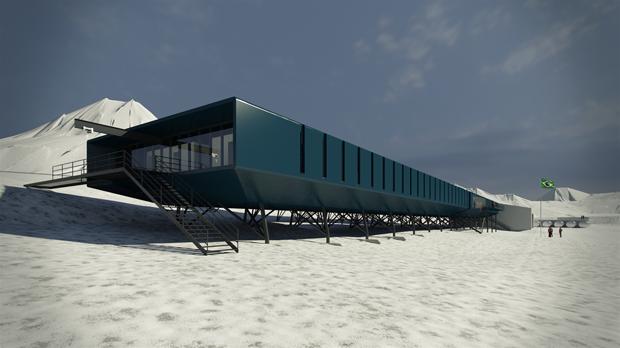 Após ser destruída em incêndio, estação brasileira na Antártica tem obra concluída (Foto: Reprodução)