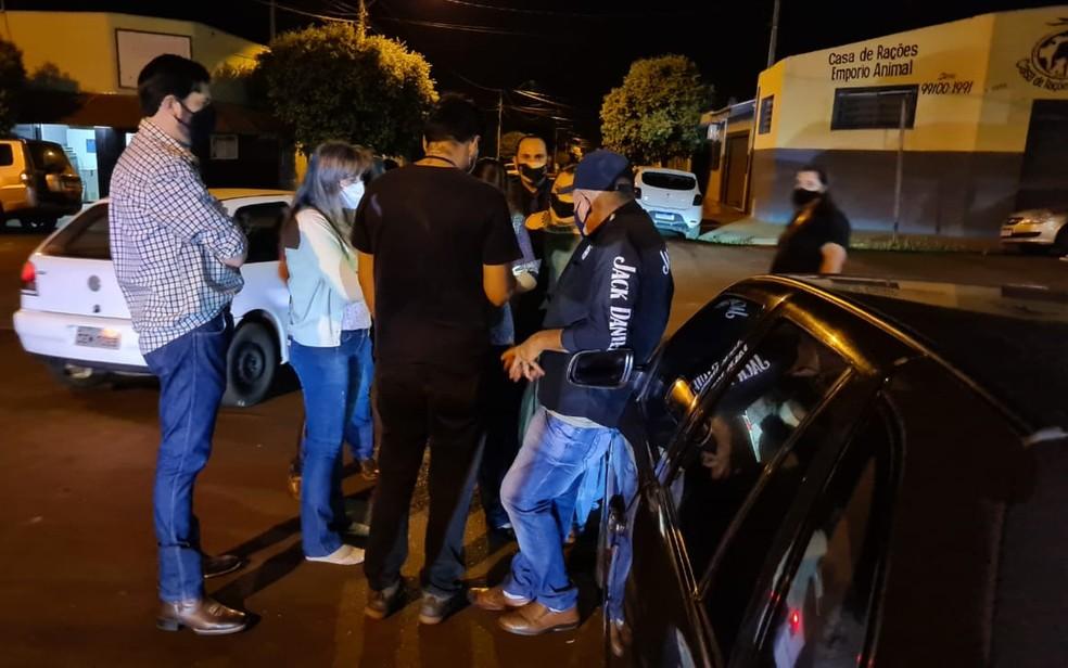Operação barra culto com Marco Feliciano em Morro Agudo (SP) por desrespeito a regras de distanciamento social, diz Prefeitura — Foto: Redes sociais/Reprodução