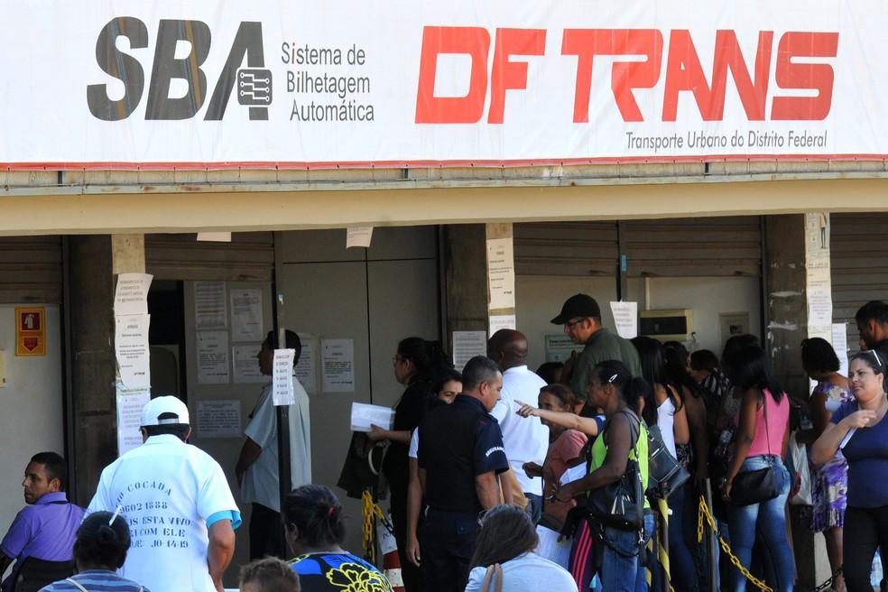 Posto do DFTrans no Plano Piloto, em Brasília (Foto: Renato Araújo/Agência Brasília)