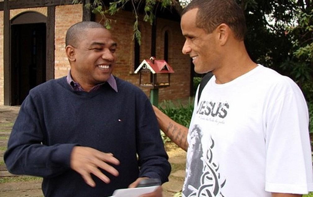 César Sampaio e Rivaldo foram gestores do Guaratinguetá — Foto: Divulgação/Site oficial SPFC