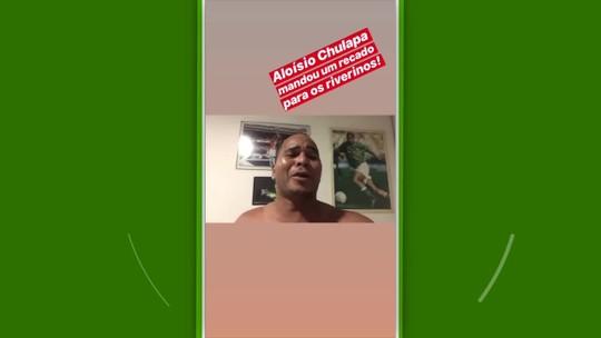 """Chulapa deseja sorte ao River-PI no estadual, e clube convida ex-jogador: """"Danone liberado"""""""