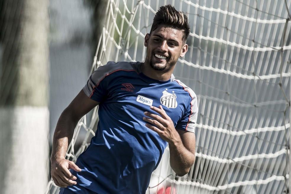 Yuri Alberto, atacante do Santos, marcou três gols em jogo-treino nesta segunda — Foto: Ivan Storti/Santos FC