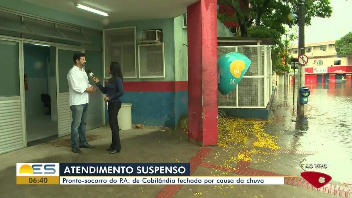Pronto Atendimento de Cobilândia, em Vila Velha, é fechado por causa da chuva - G1