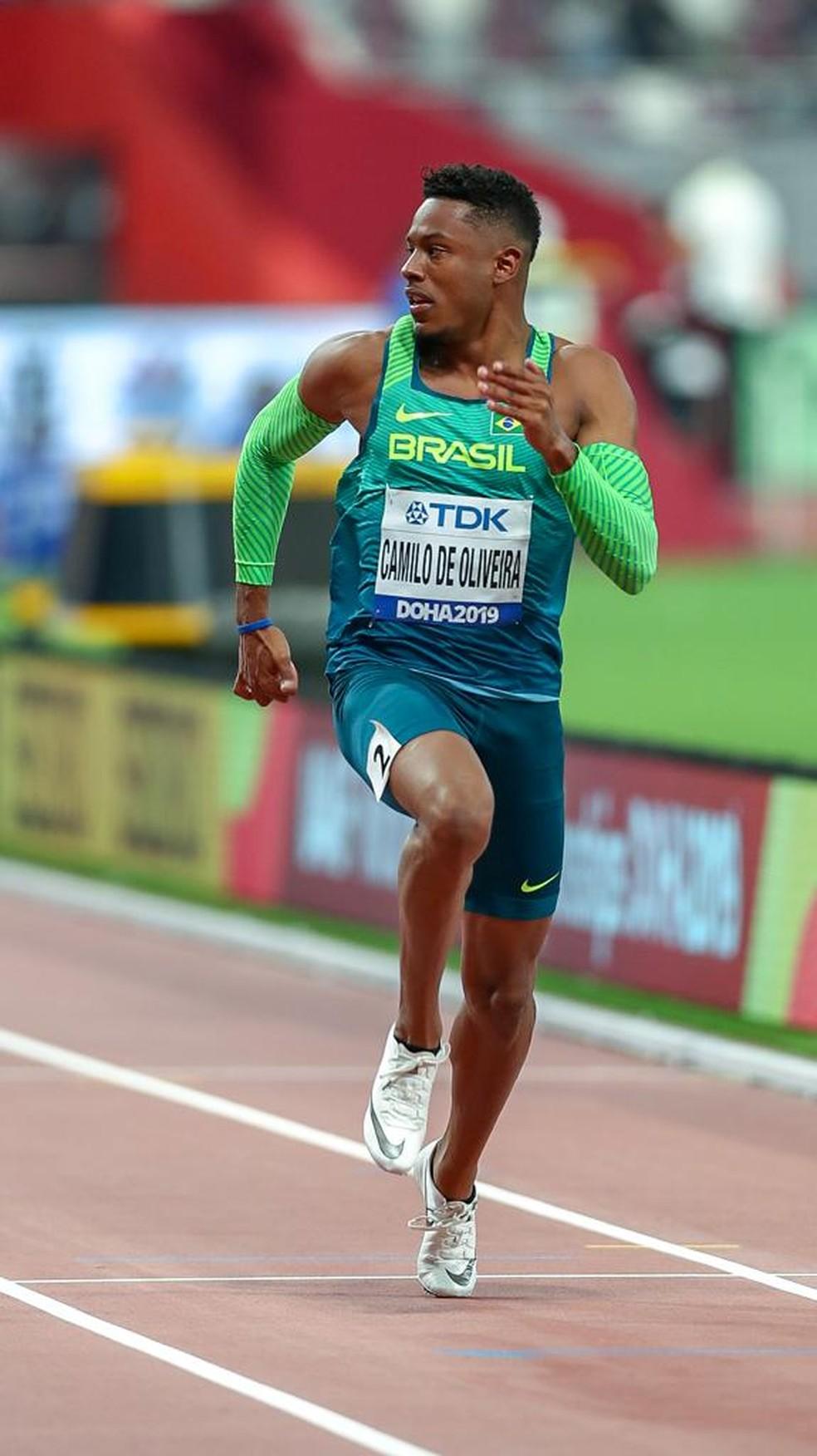Paulo André vence bateria dos 100m e se classifica para semifinal do Mundial de Doha — Foto: Wagner do Carmo/Cbat