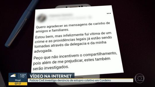 Polícia investiga denúncia estupro coletivo em Cordeiro, na Região Serrana