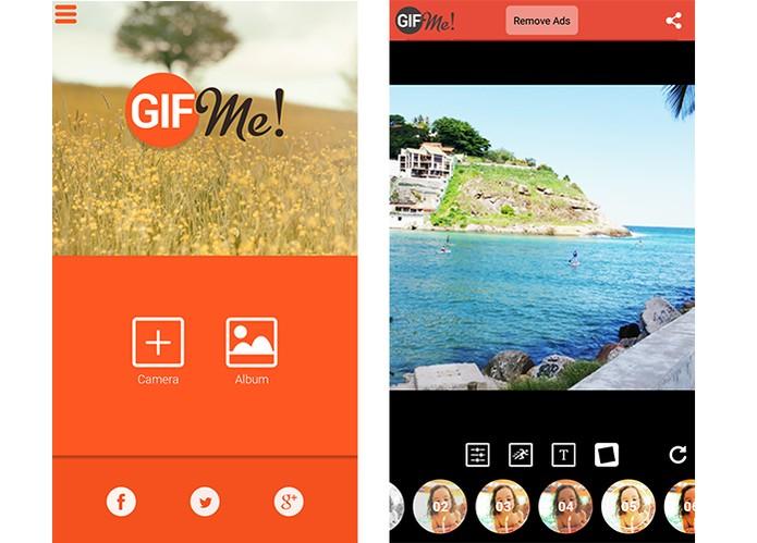 App GIF Me permite adicionar fotos e editar GIFs em interface colorida (Foto: Reprodução/Barbara Mannara)