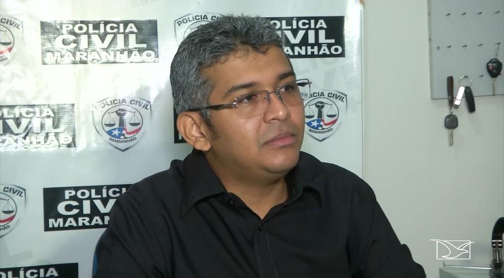 Delegado Fagno Vieira, responsável pelas investigações da morte de Antônia Conceição, de 106 anos, em Feira Nova do Maranhão — Foto: Reprodução/TV Mirante