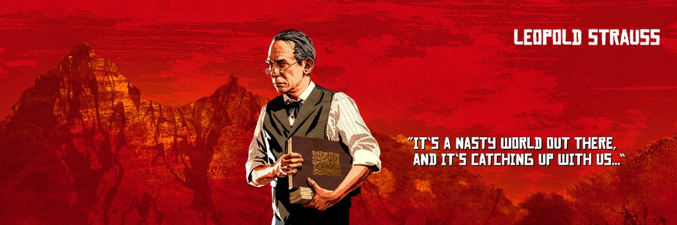 Leopold Strauss, de Red Dead Redemption 2 — Foto: Divulgação/Rockstar