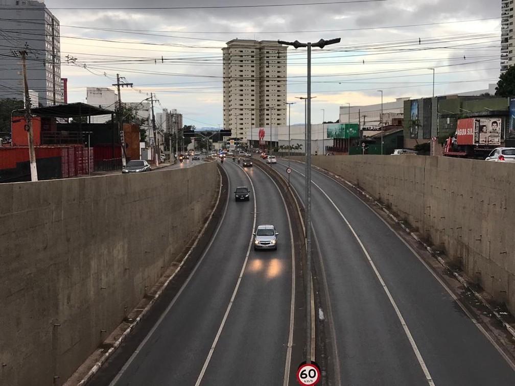 Avenida Miguel Sutil, uma das mais movimentadas de Cuiabá — Foto: Christiano Antonucci/Secom-MT