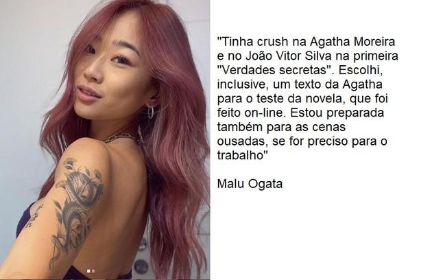 Descoberta pelo Tik Tok, a modelo Malu Ogata fará a sua estreia na produção e também trabalhará na agência (Foto: Reprodução)