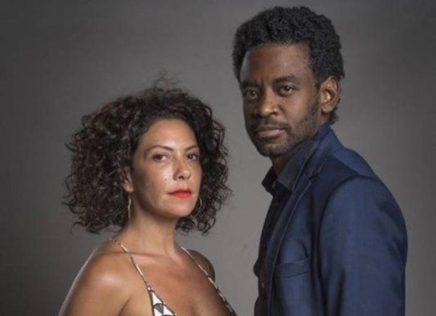 Cacau (Fabíula Nascimento) e Roberval (Fabrício Boliveira) (Foto: Divulgação/TV Globo)