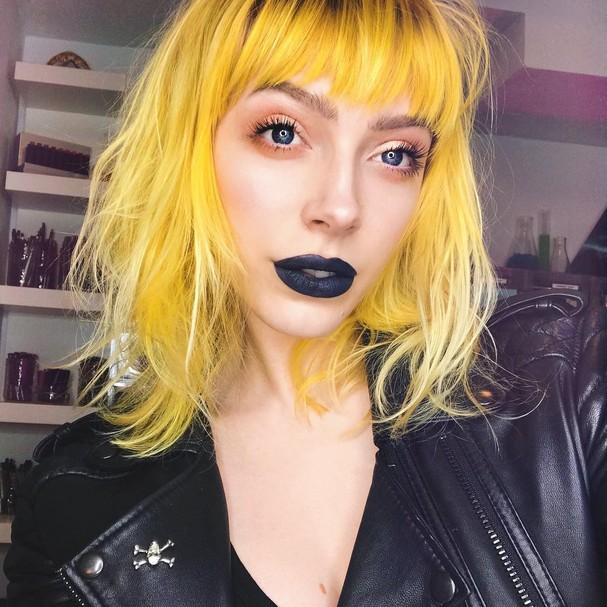 """Cabelo """"Mac and Cheese""""... Será que a moda pega? (Foto: Reprodução/Instagram)"""