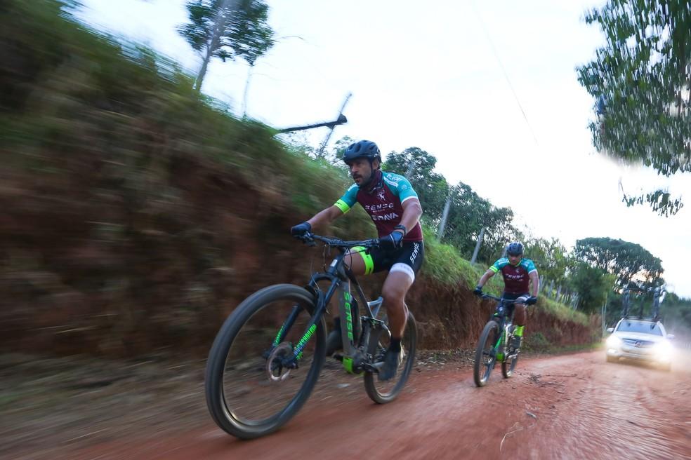 Fred bateu o seu recorde de pedalada hoje com 175 km — Foto: Gustavo Lovalho / Sense Bike