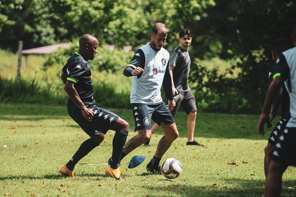 Marcos Júnior em treino pelo Remo — Foto: Samara Miranda/Ascom Remo