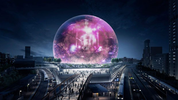 Londres recebe arena esférica ao lado do Parque Olímpico (Foto: Divulgação)