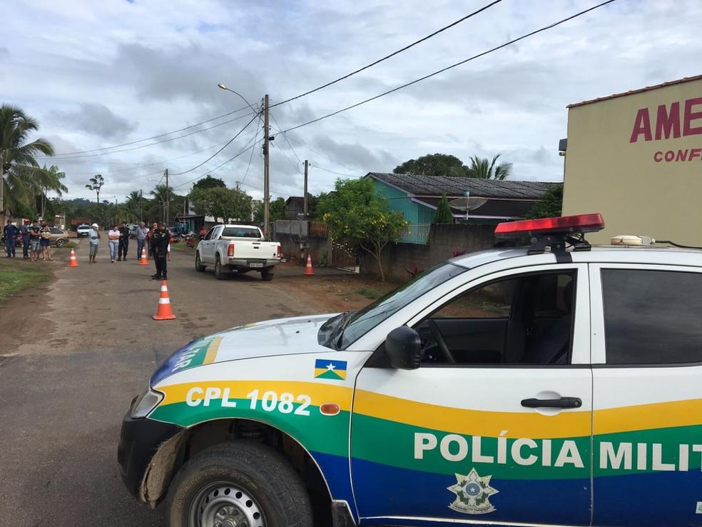 Homicídio aconteceu em Monte Negro (RO) — Foto: Jack Moraes/rondonia24h