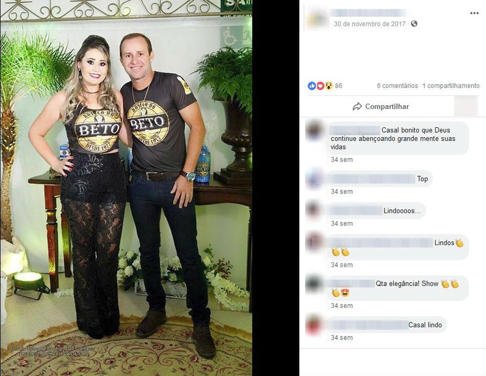 Érica Cristina Carpi Oliveira e Roberto Santos Oliveira foram presos por suspeita de desvio de dinheiro público em Jales (Foto: Reprodução/Facebook)