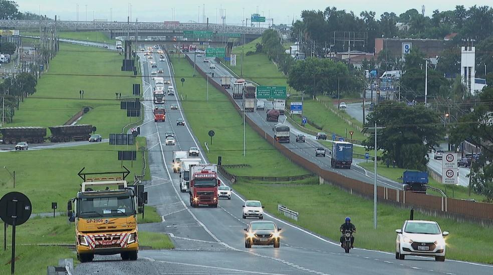 Rodovia em Ribeirão Preto, SP — Foto: Reprodução/ EPTV