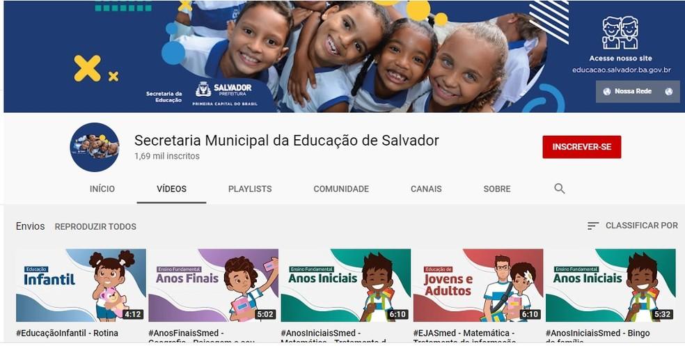 Estudantes da rede municipal em Salvador recebem atividades pedagógicas em casa  — Foto: Smed/Divulgação